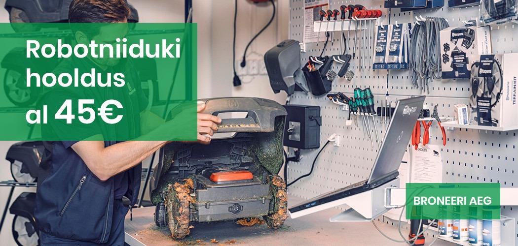 Robotniiduki hoiustamine ja hooldus